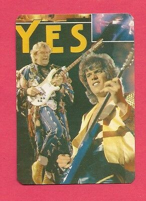 Yes Collectible Card 1986; Progressive Rock; Symphonic Rock;  UK 1980's