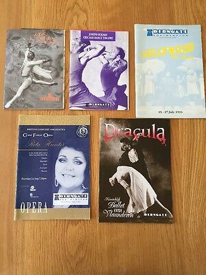 5 Programmes From The Derngate Theatre in Northampton from 1993