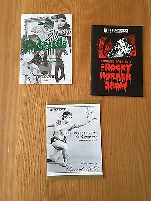 3 Programmes From The Derngate Theatre in Northampton from 1992