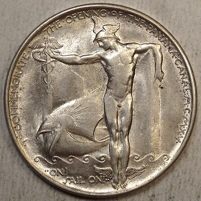 1915 Panama-Pacific Exposition Official Medal, Silver, HK399, Scarce, Choice AU