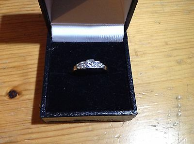 9ct cz white gold eternity ring  Size O1/2