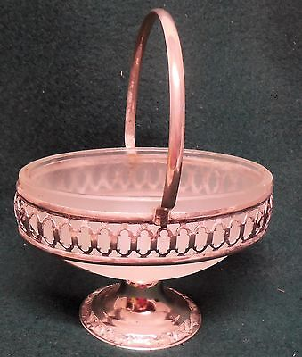 Antique Silver Plate Flower Basket Small