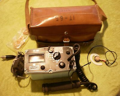 Czech IT-65 Military Geiger Counter Cold War Relic, Complete & Working!