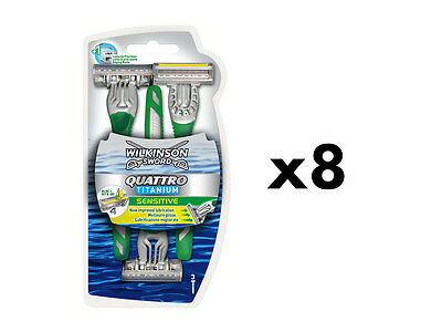 Wilkinson Sword Quattro Titanium Disposable Razors - 24 Pack