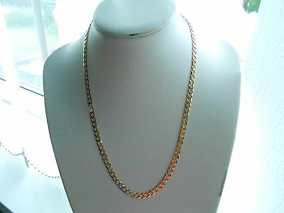 9ct Solid Gold Curb Chain Necklace, Mens or Ladies - 16 grams - 20.5 ins