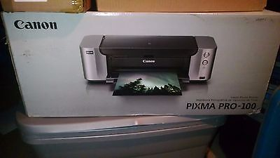Canon PIXMA PRO-100 Professional Photo Inkjet Printer with Ink and Sample Paper