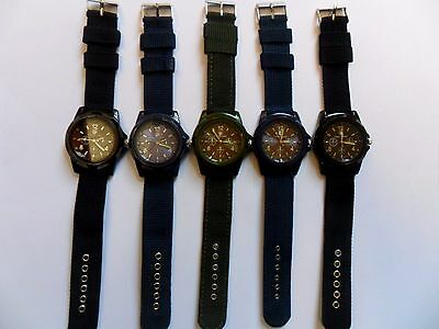 SALE Job Lot of  FIVE  Very Smart  ARMY WATCHES  NEW Watches Denim Strap  NEW b