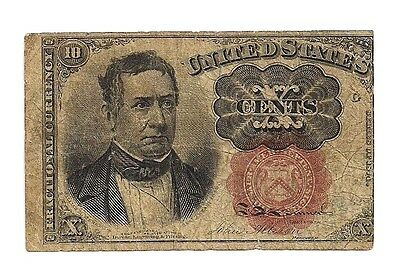 US FRACTIONAL CURRENCY MONEY 1874 TEN CENTS 10C - William Meredith