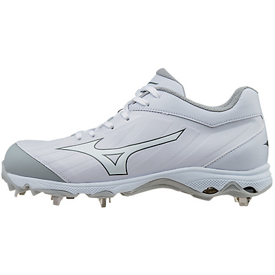 Mizuno 320546 Women's 9-Spike Advanced Sweep 3 Metal Cleats White/White sz 7