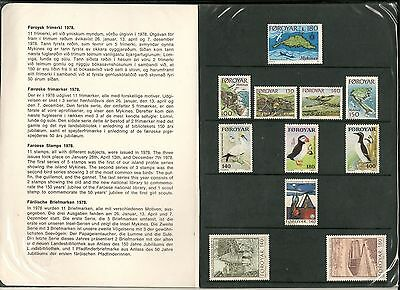 Faroe Islands 1978 Booklet With Stamps Perfect Condition -Cag 200414