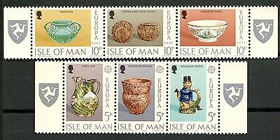 Isle Of Man 1976 Europa Cept 2 Blocks Of 3 Stamps Mnh** Art -Cag 200414