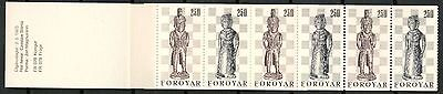 FAROE ISLANDS #94a COMPLETE BOOKLET OF STAMPS CHESS THEME MNH** -CAG 200414