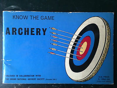 Plaquette.tir A L'arc.know The Game Archery.1970.