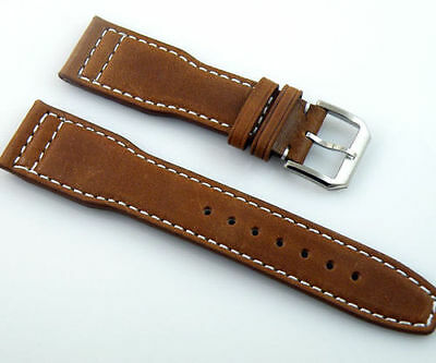 22mm leather Strap steel buckle Wristwatches Band Watchband Watch Strap