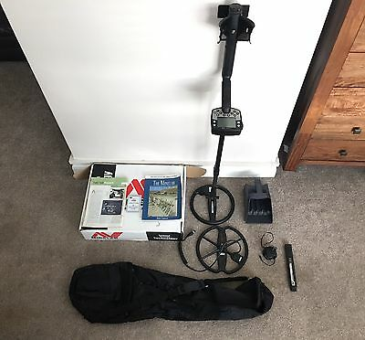 Minelab E-TRAC Metal Detector with 2 Coils and Extras