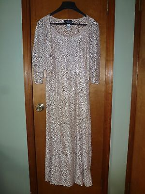 Alex Evenings Sequined gold mother of the bride dress size 10