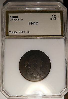 1800 Draped Bust Cent S-205 R-4