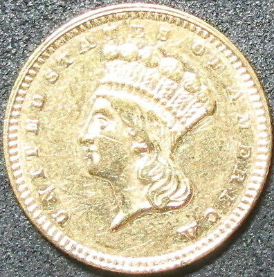 1857 $1 Type 3 Indian Princess Head One Dollar Gold Coin