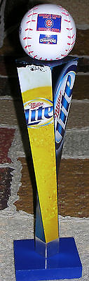 Chicago Cubs Custom World Series Championship Miller Lite Sprial Tap Handle