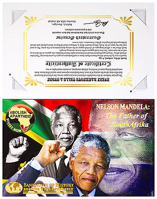 2012 South Africa 10R Banknote Mandela Father of South Africa with COA SKU47188