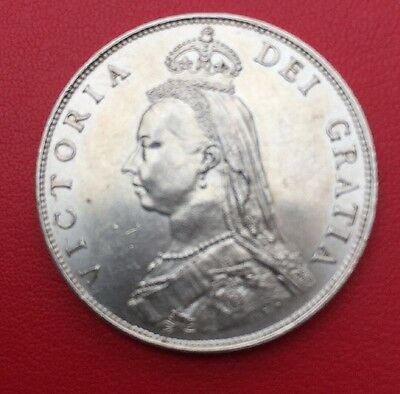 Rare 1887 Victoria Sterling silver Florin. Superb Uncirculated grade.