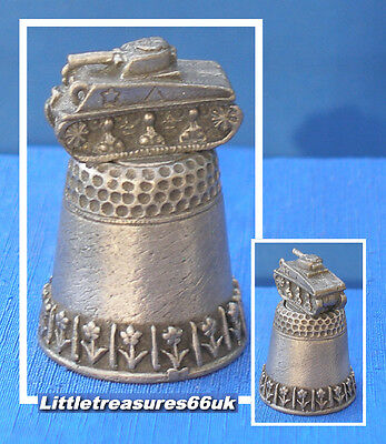 Pewter Thimble.....wwii Tank