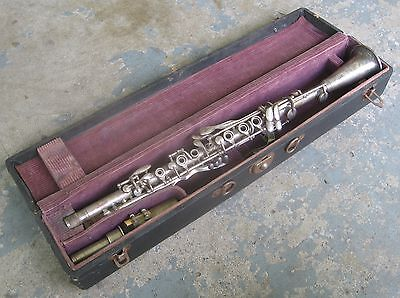 "1920s ""Henri La Vella"" Metal Clarinet w/ Original Case. Good Playing Condition."