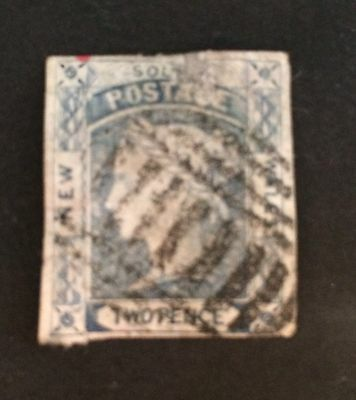 New South Wales. 1851 Imperf. 2d Blue