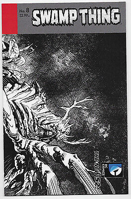 Swamp Thing #8 DC Comics 2012 Yanick Paquette B&W Sketch Variant Cover Comic