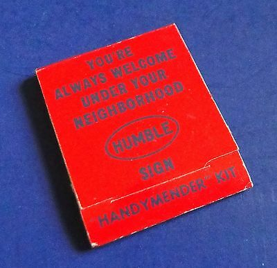 Vintage HUMBLE OIL Handy Mender Kit Matchbook size