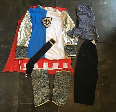 Knight Guards Man Boys Fancy Dress Costume Medieval Age 8 - 10