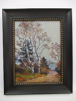 OIL on CANVAS LANDSCAPE PAINTING by ROGER DEERING Listed MAINE ARTIST