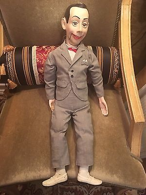 """PEE WEE HERMAN 26"""" VENTRILOQUIST DOLL Moves his mouth w/ string"""