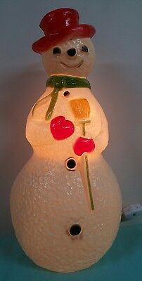 Snowman vintage 13 inch lighted blow mold