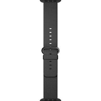 Genuine Apple Watch Woven Nylon Band (42mm, Black) MM9Y2AM/A - VG