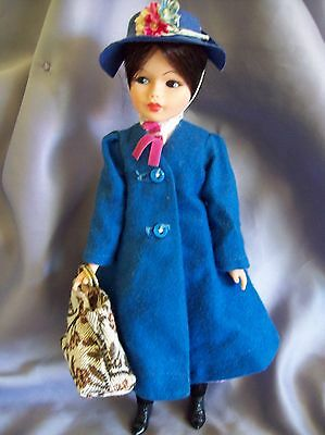 "Vintage Walt Disney Mary Poppins Horsman Doll 1960's Vinyl 12"" NO UMBRELLA"