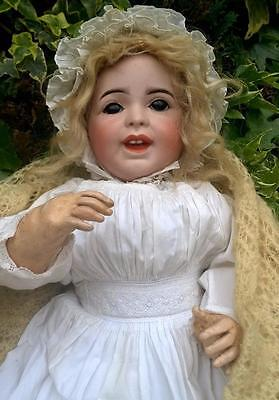 """Fine French 16"""" Antique SFBJ 236 """" Laughing Jumeau """" Size 8 Character Doll 1900s"""