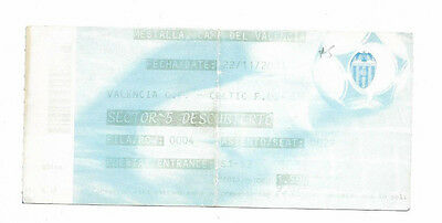 Ticket 2001/02 UEFA Champions League - VALENCIA v. CELTIC