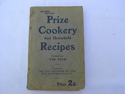 VINTAGE - COOKERY BOOK - Prize Cookery And Household Recipes -