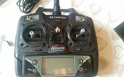 2.4 ghz transmitter with servos and gyro plus brushless motor and control unit.