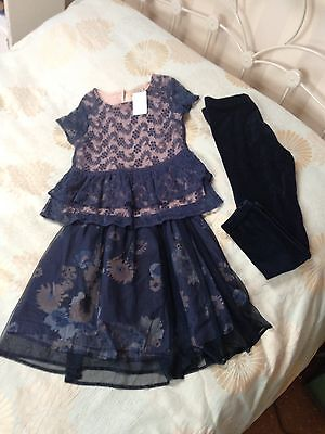 Girls Next 3 Piece Outfit Navy Age 11 BNWOT