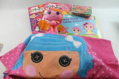 LALALOOPSY Large Assorted Lot Doll, Puzzles, Books & Complete Twin Sheet Set