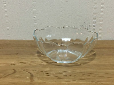 Vintage French Dainty Round  Glass Ware  Bowl Dish  Made in France