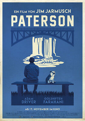PATERSON - Orig.German Movie Poster - Jim Jarmusch - rolled and mint condition