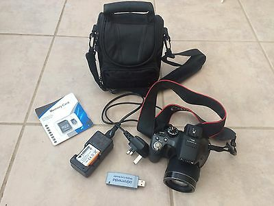 Fujifilm Finepix SL300 Camera, Canon Neck Strap Plus Accessories