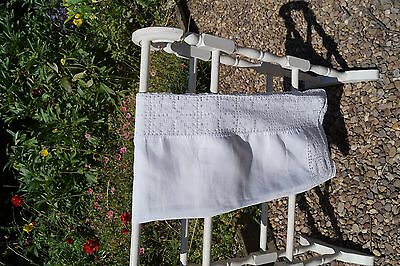 vintage table runner. antique linen, white, perfect condition, beautiful!