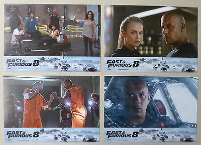 FATE OF THE FURIOUS - Lobby Cards Set - Vin Diesel, Charlize Theron - FURIOUS 8