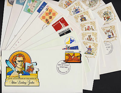 Pre-Stamped Envelope First Day of Issue 1983 full set of 18 envelopes 060-077
