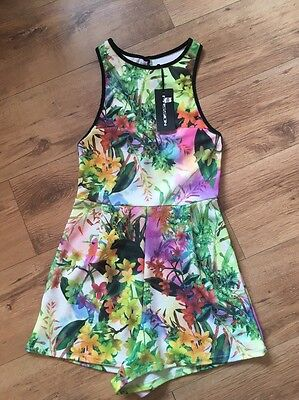 Multicoloured Playsuit Size 8 Bnwt