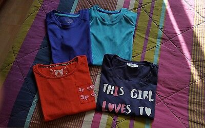 Job Lot of 4 of Girls Tops, 10 years